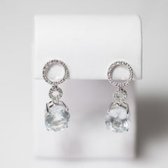 Aqua White Gold Earrings