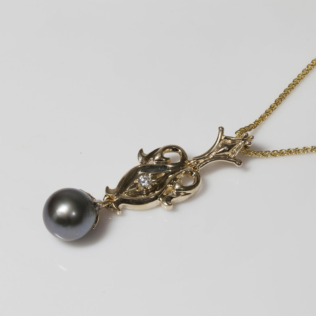 14kt Tahitian Pearl Necklace