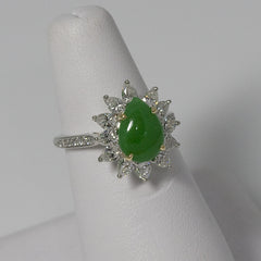 Tiffany & Co Platinum, Flawless Diamonds and Jadeite Ring