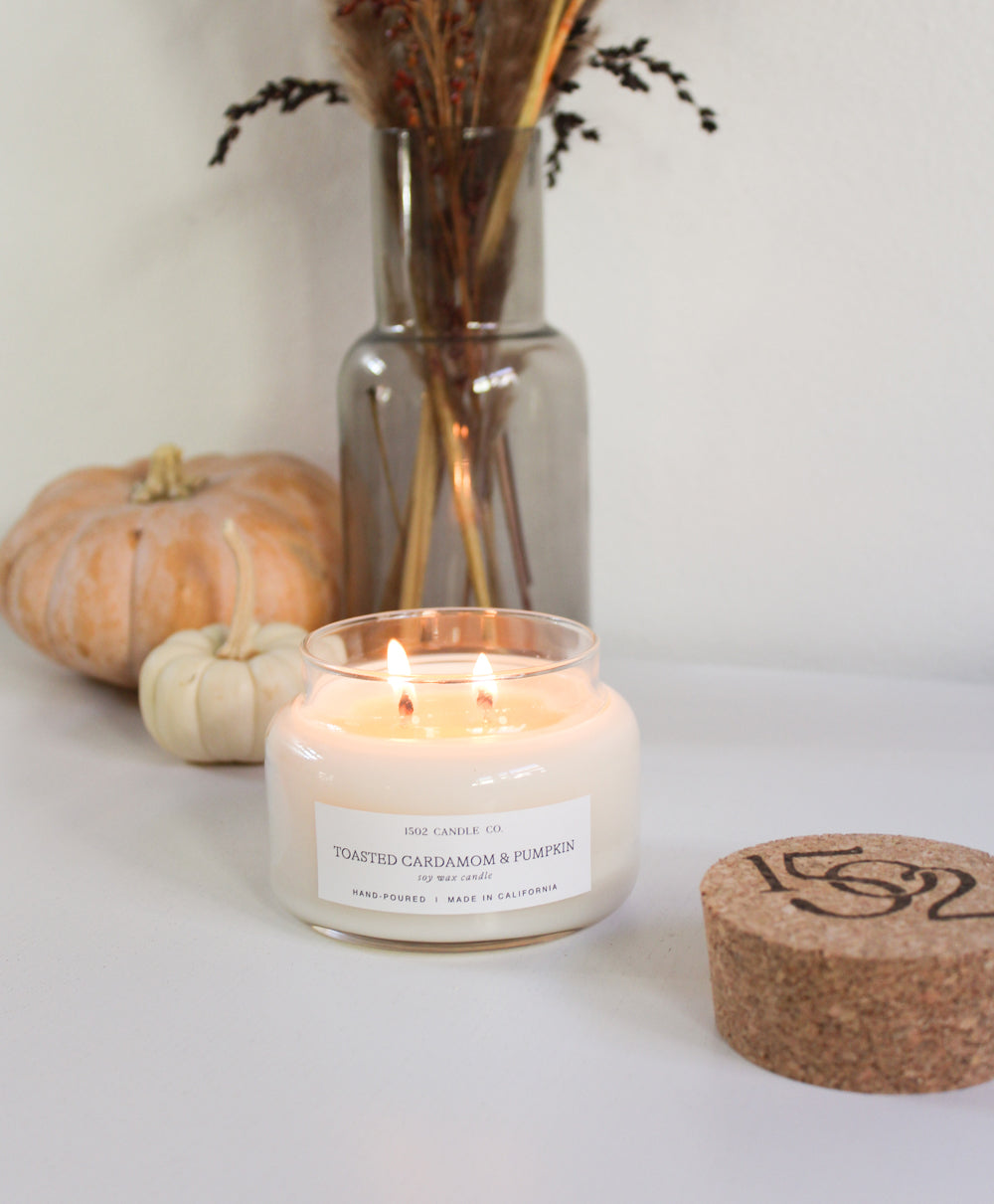 Toasted Cardamom and Pumpkin candle.
