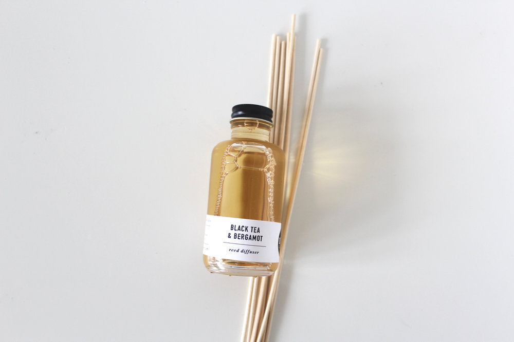 black tea & bergamot reed diffuser