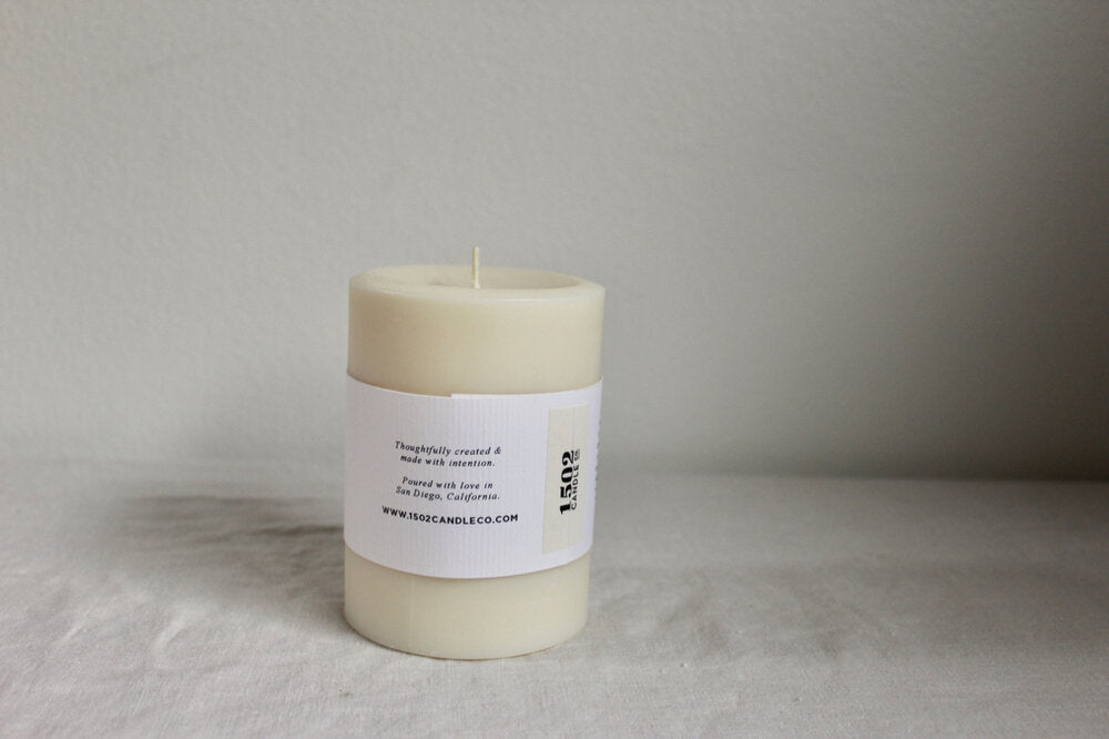 soy wax pillars - limited edition