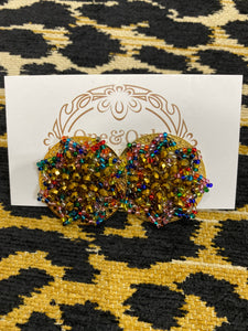 Round Multi Beaded Earrings