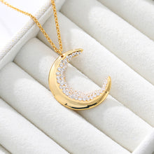 Load image into Gallery viewer, Crescent Gem Necklace - Ever Ethereal