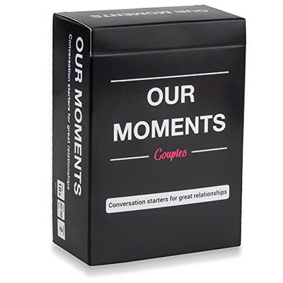 OUR MOMENTS Couples: 100 Thought Provoking Conversation Starters for Great Relationships - Fun Conversation Cards Game for Couples - Logic Run Games