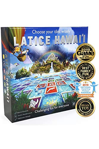 Latice Hawaii Strategy Board Game - The Multi-Award-Winning Smart New Family Board Game. Intelligent Fun for Creative People. - Logic Run Games
