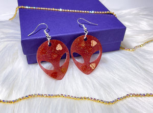 Birchbark Cuties- Medium Red Aliens - Bizaanide'ewin Beadwork & Supplies