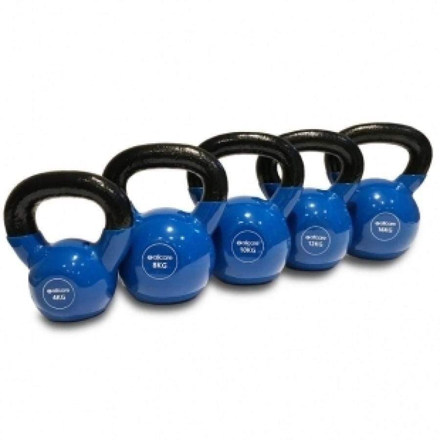 ALLCARE KETTLEBELLS - COATED IN A SOFT VINYL PVC FOR EASY CLEANING