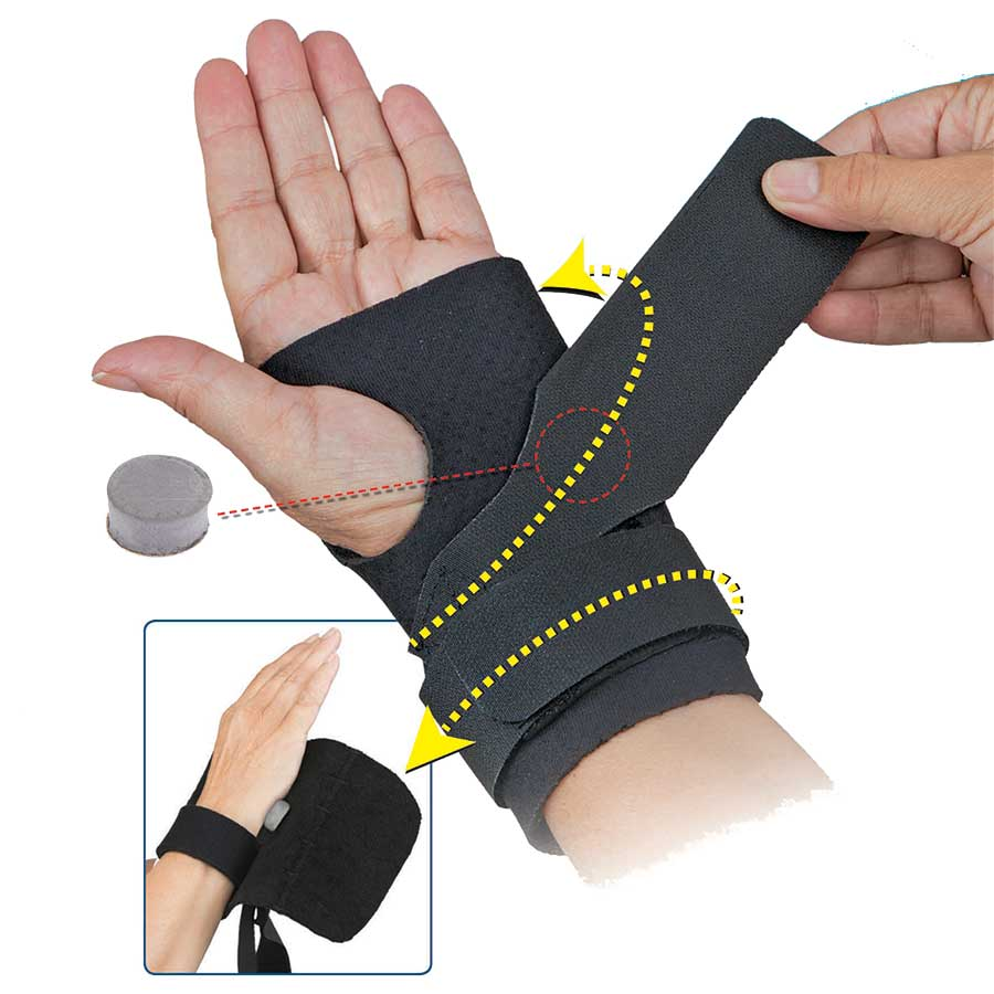 COMFORT COOL NEOPRENE ULNAR BOOSTER WITH FOAM INSERT FOR COUNTERFORCE SUPPPORT