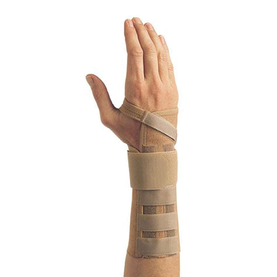 LIBERTY ELASTIC LONG BEIGE WRIST BRACE WITH ALUMINIUM STAY 23CM LENGTH