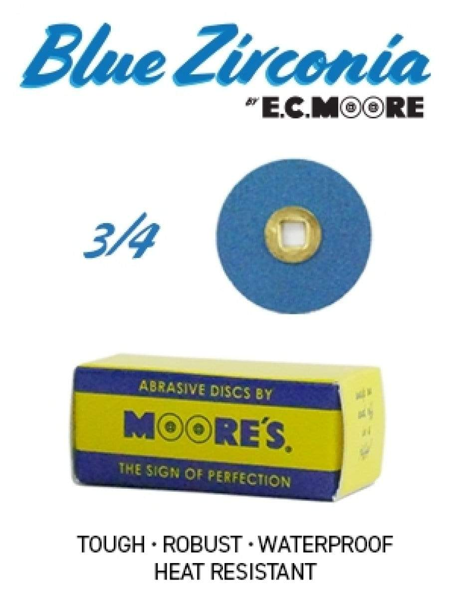MOORES BLUE ZIRCONIA SANDING DISCS - ALTERNATIVE TO PLASTIC DISCS