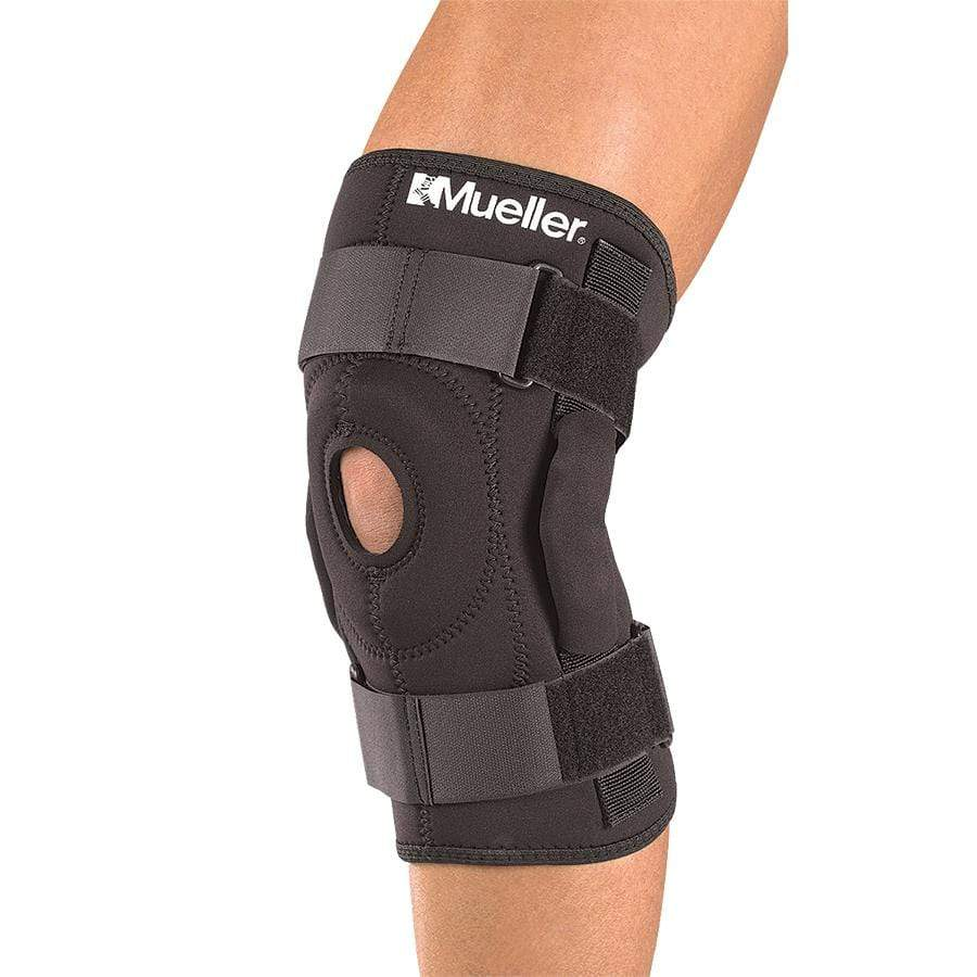 MUE2333 HINGED KNEE BRACE WITH TRIAXIAL HINGE AND PATELLA BUTTRESS