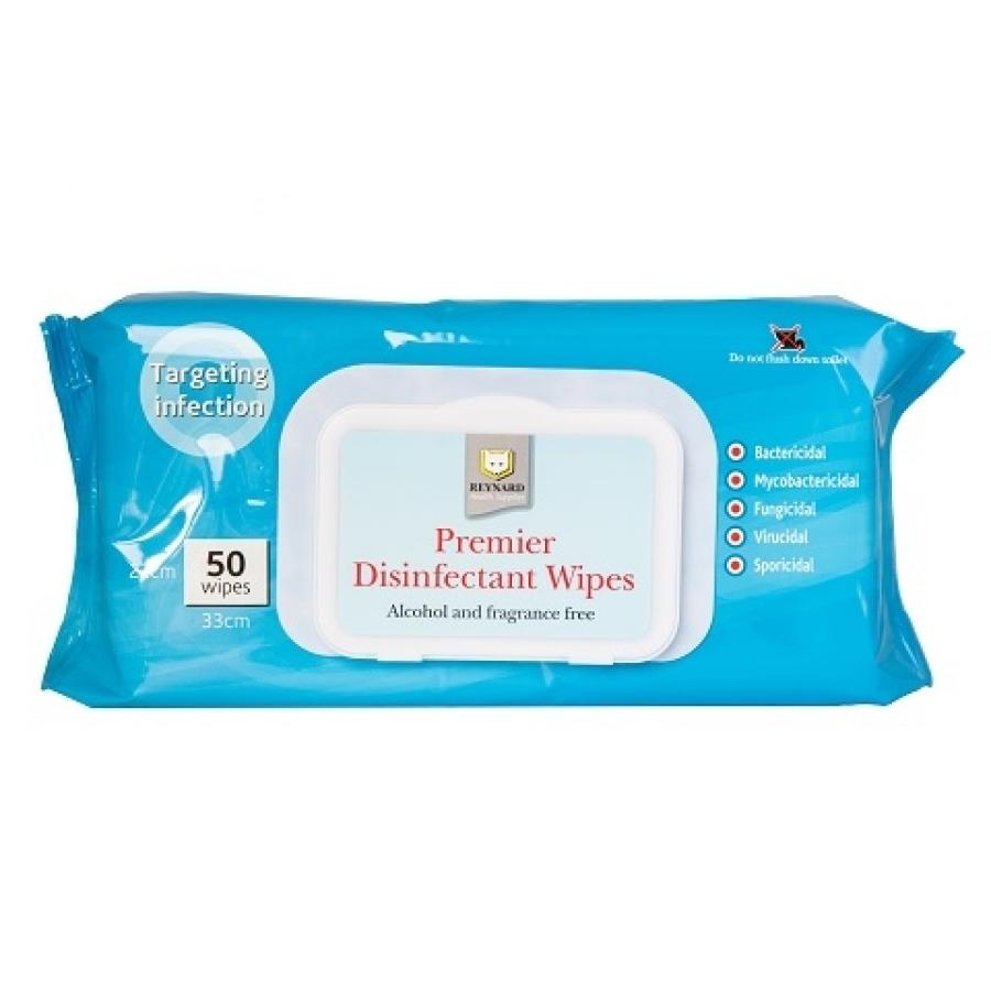 PREMIER DISINFECTANT & DETERGENT WIPES FOR MOST HARD SURFACES