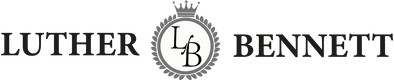Luther Bennett banner with crest