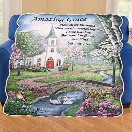 Amazing Grace Quilted Throw