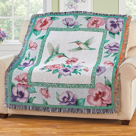 Hummingbird Garden Throw