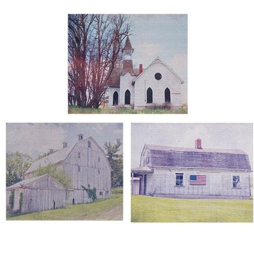 Gray Country Barn Print