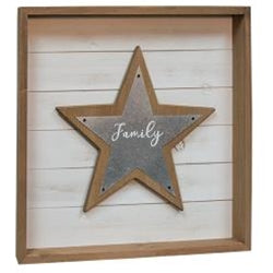 Family Star Shadow Box Sign