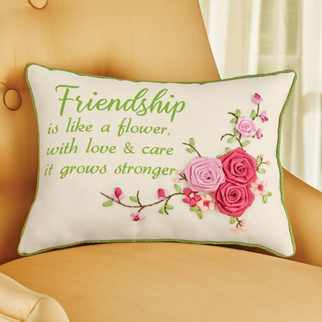 Rose Friendship Pillow