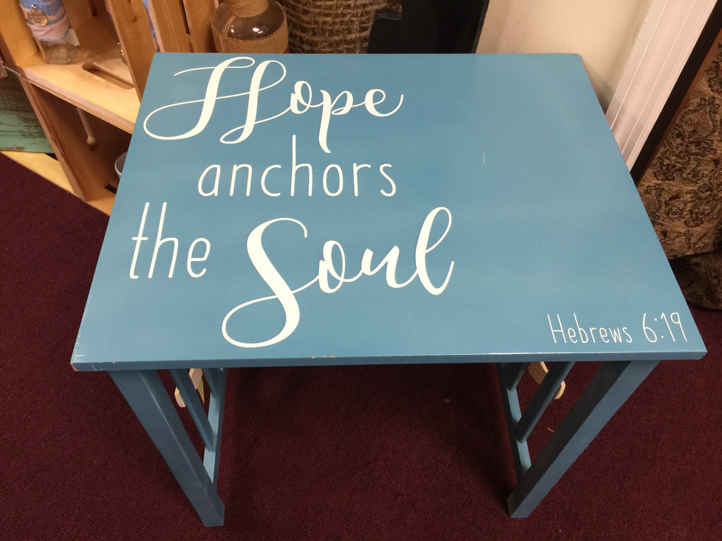Hope Anchors The Soul Table