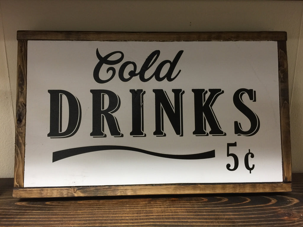 "Framed Box ""Cold Drinks"""