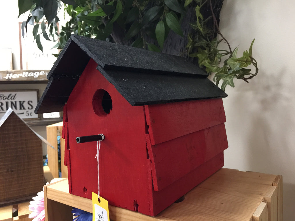Red & Black Custom Bird House