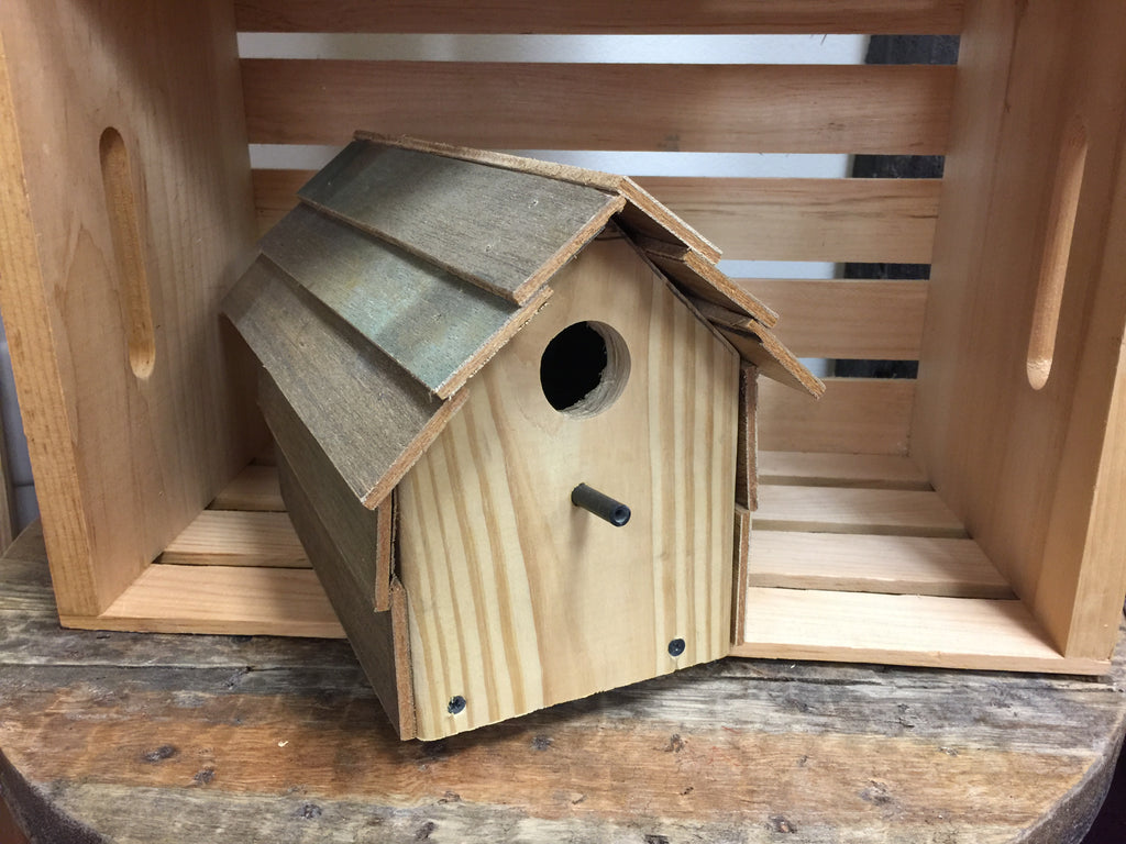 Natural Custom Wood Birdhouse