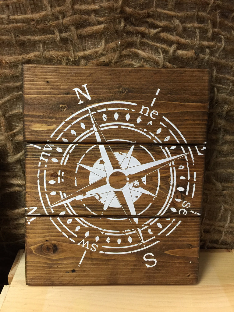 Rustic Compass Sign