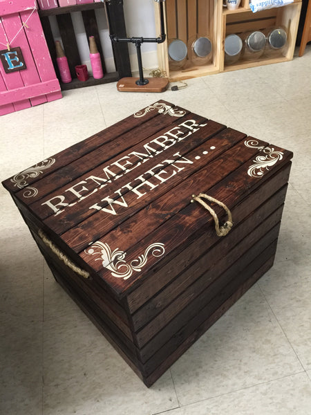 Remember When - Pallet wood box