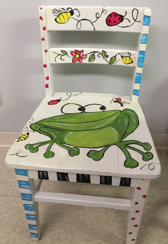White Frog Chair