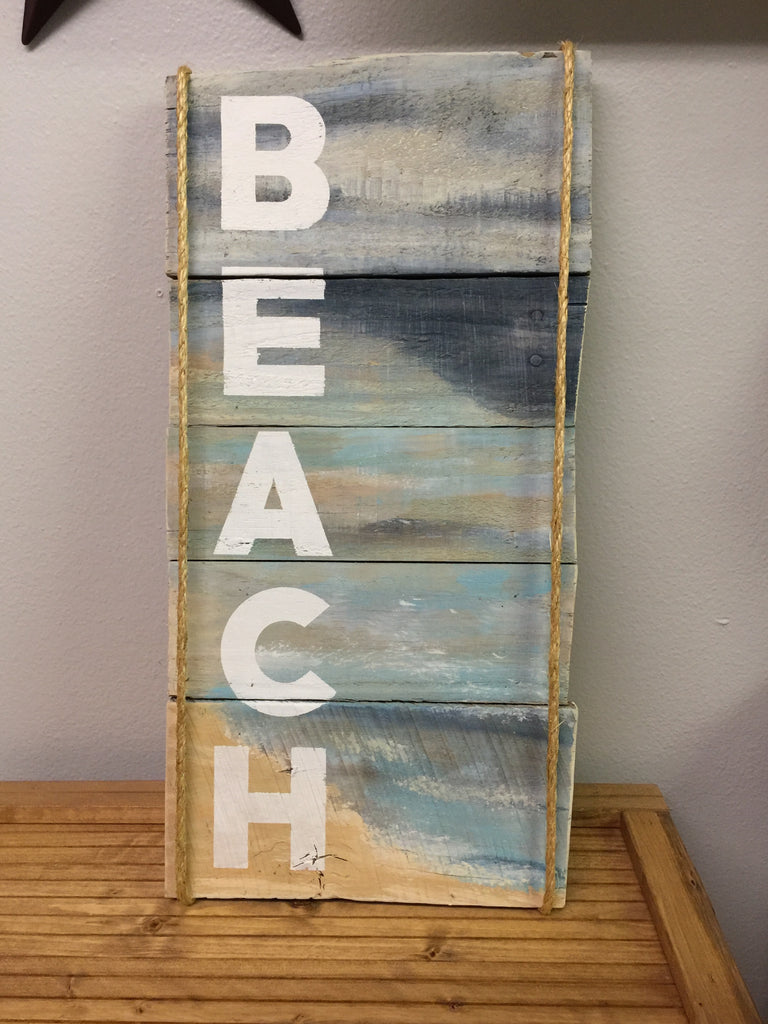 Beach painted sign