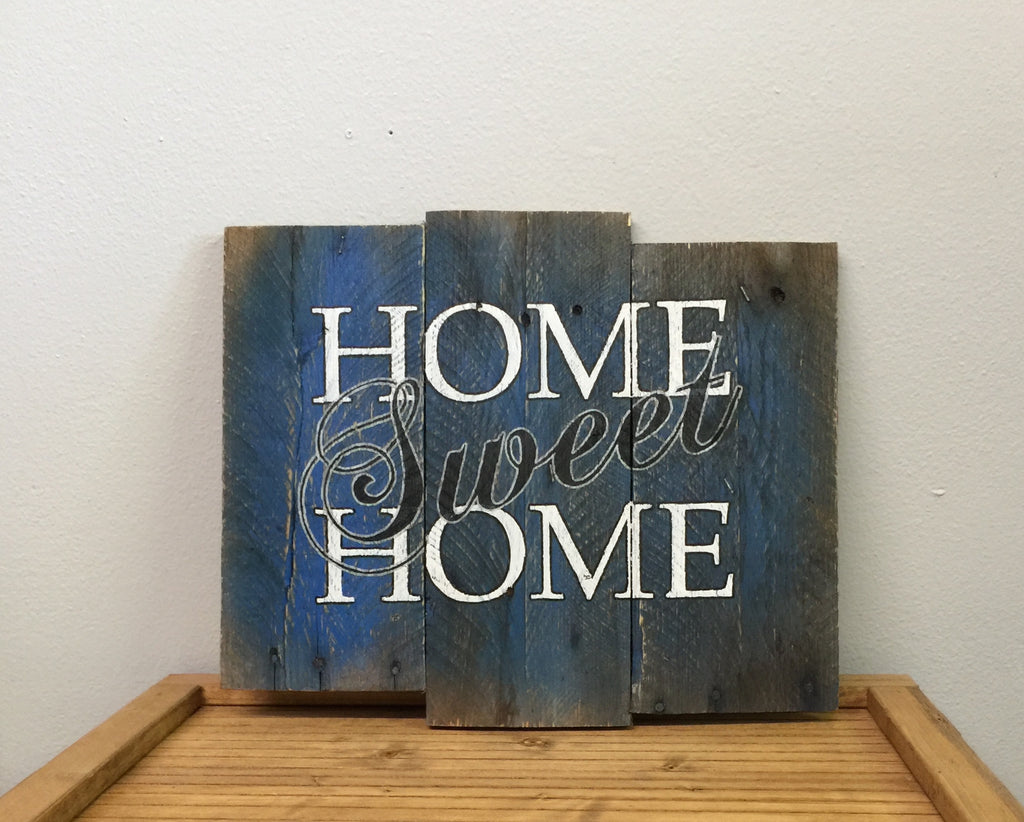 Home Sweet Home Sign (Blue)