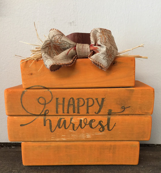 Wood Block Pumpkin