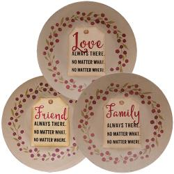 Love, Friend, Family Tag Plate