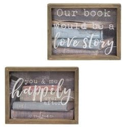 Love Story Box Sign