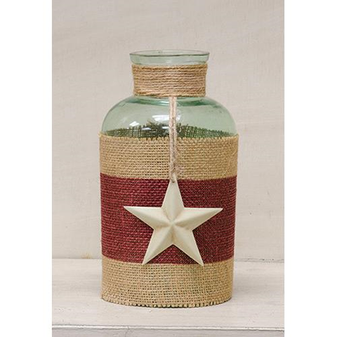Jute and Star Bottle