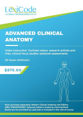 Advanced Clinical Anatomy - Online CEU Course