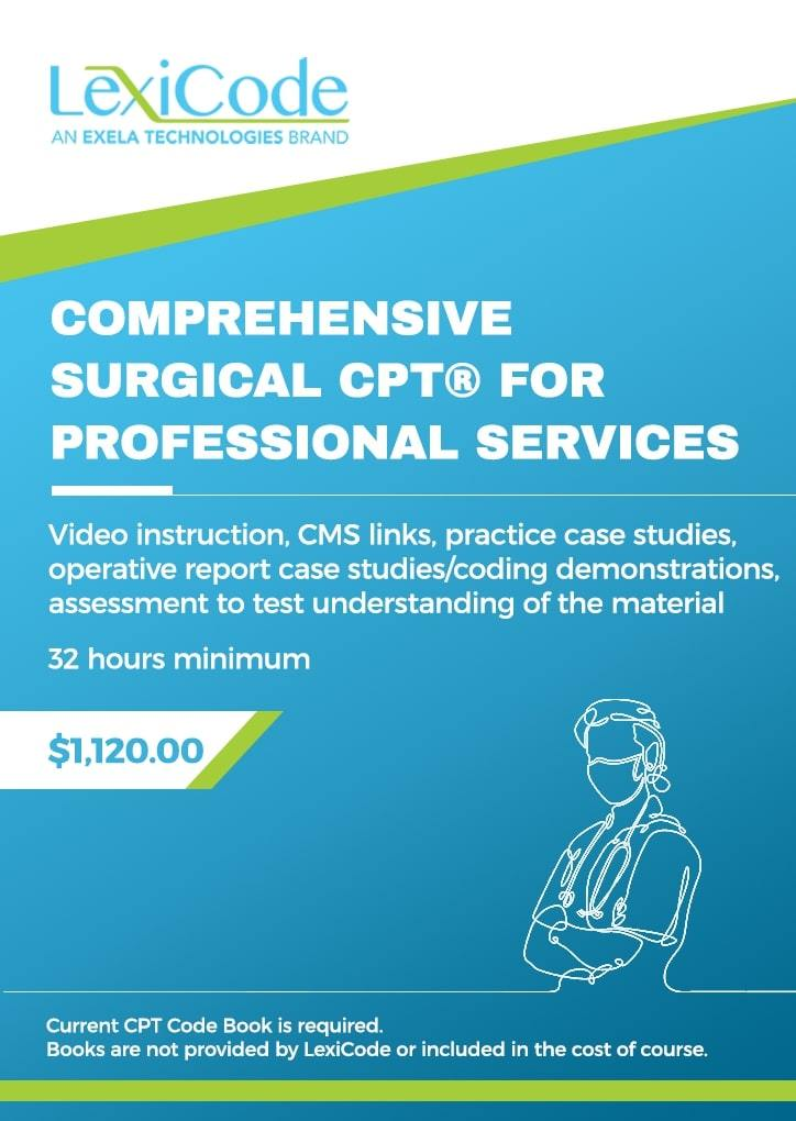 Comprehensive Surgical CPT® for Professional Services - Online CEU Course