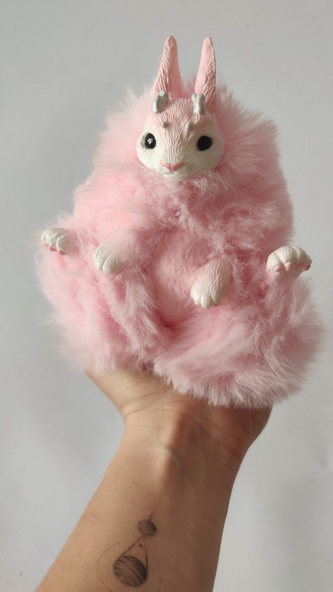 Pink baby jacklope poseable art doll