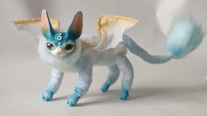 Light-blue Bat-Cat