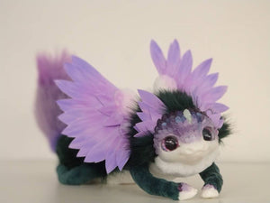 Flower dragon posable art toy