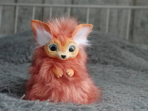Baby fennec posable art toy