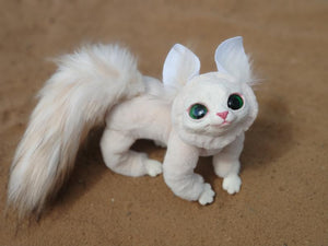 Albino kitten posable art toy (OOAK)