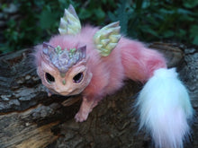 Load image into Gallery viewer, Pink succulent dragon poseable art doll