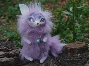 Purple cat-fox