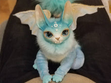 Load image into Gallery viewer, Light-blue Bat-Cat