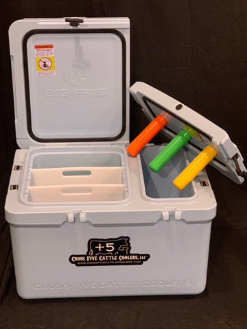 3 Holster Ranch Hand Vaccination Cooler BLUE & WHITE SALE