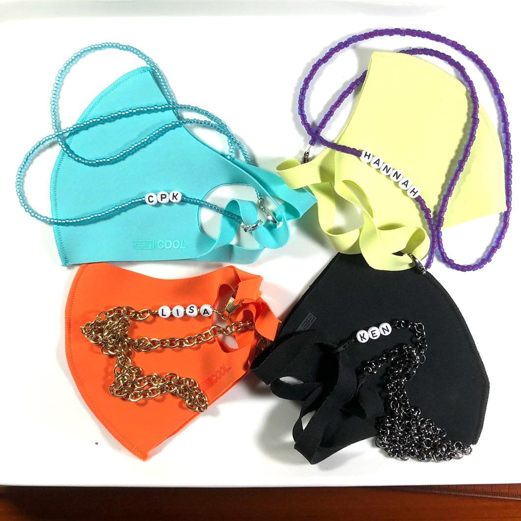 Personalized Mask chains - for Children, Adults ( Men and Women!!) - Young and Old ...make this a special gift for someone you care about!!!