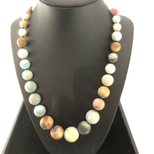 Load image into Gallery viewer, Timeless Graduated Amazonite statement necklace!!!