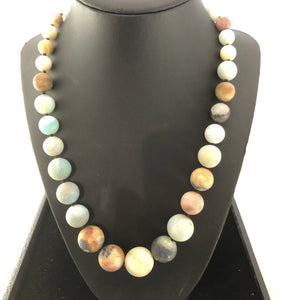 Timeless Graduated Amazonite statement necklace!!!